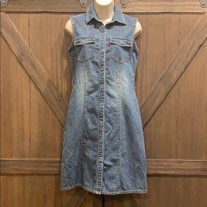 timeless Polo Jeans Co sleeveless denim dress, Sz2